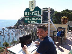 Ondernemer op vakantie
